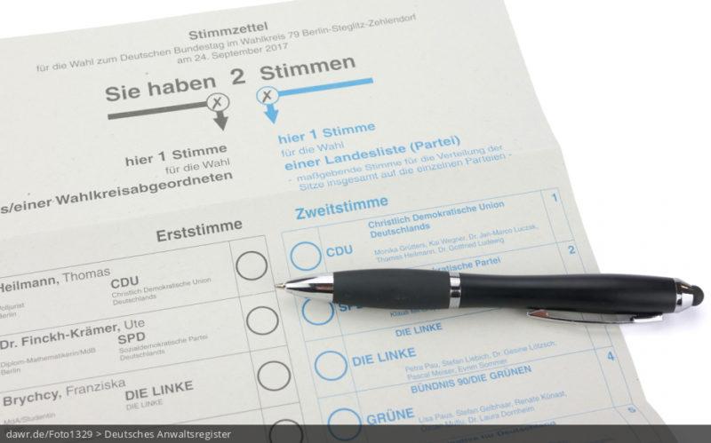 Bundestagswahl: Was bedeutet Erststimme und für was ist die Zweitstimme?