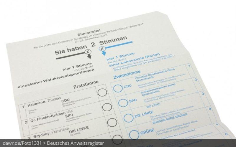Zwei Stimmen: Wie muss der Stimmzettel zur Bundestagswahl ausgefüllt werden?